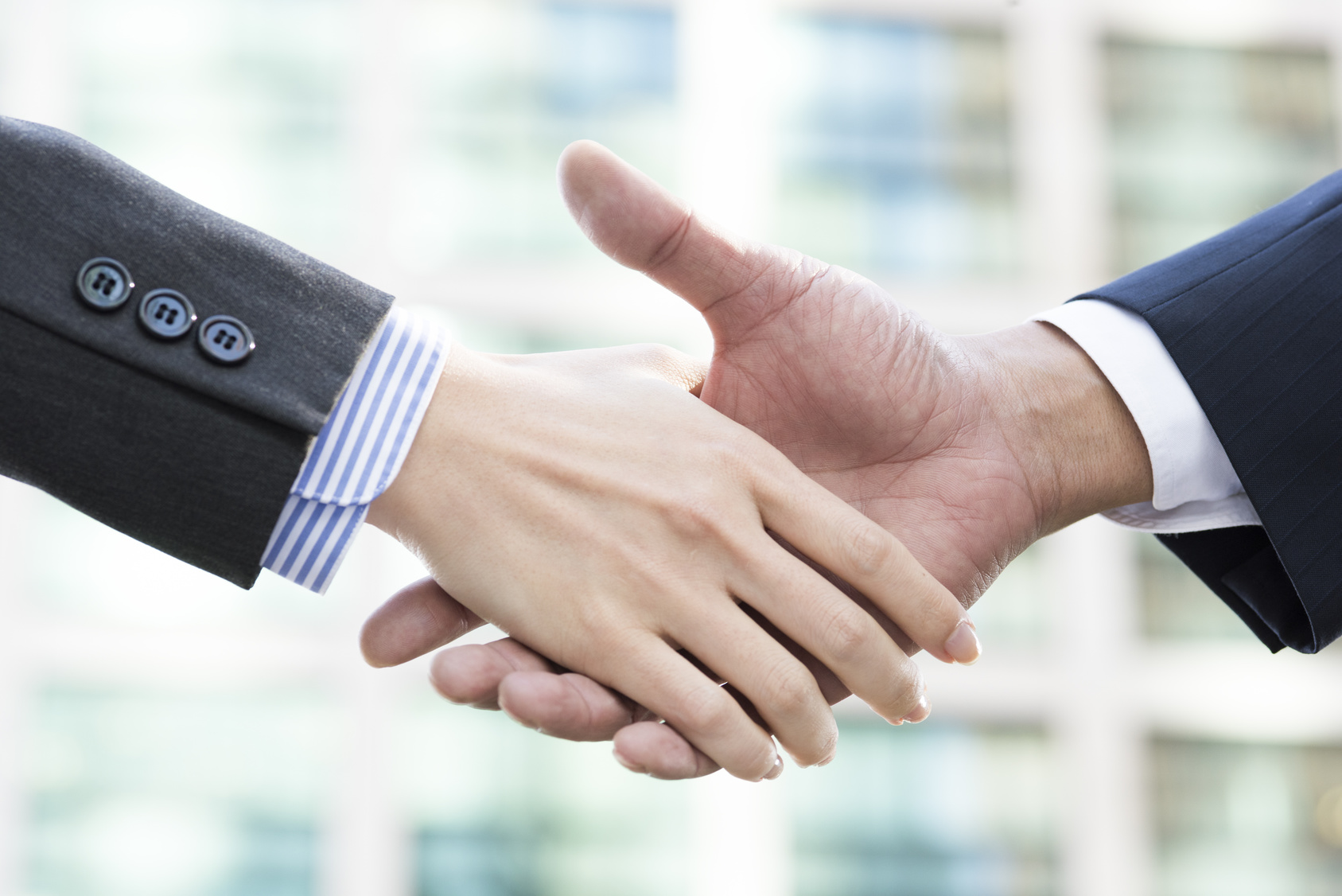 The handshake to have businessman